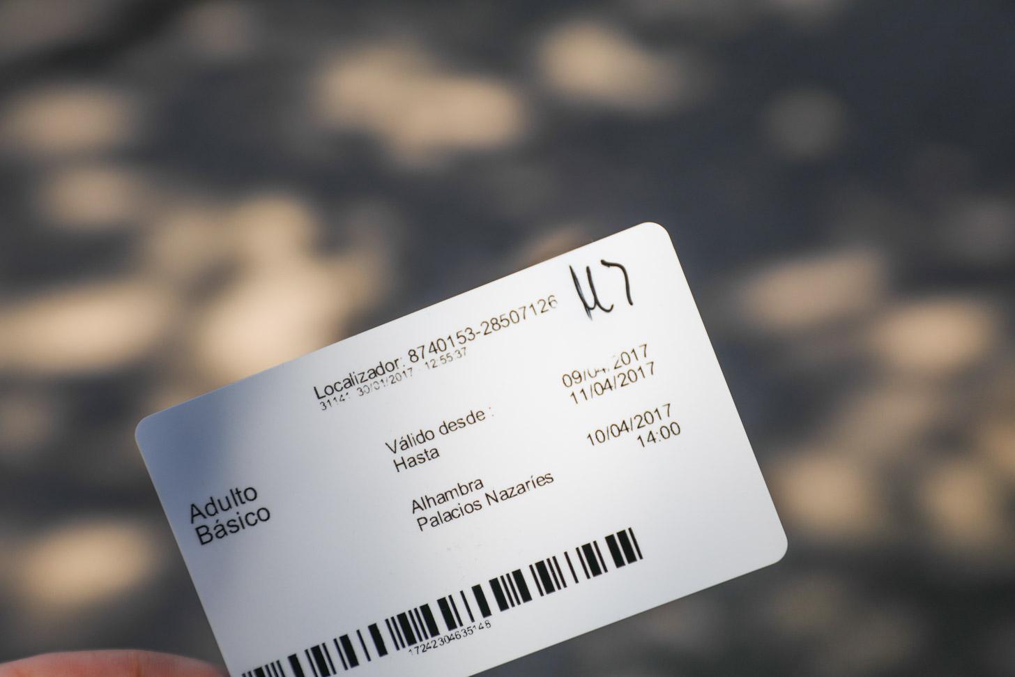 de Alhambra Card